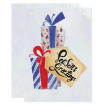 Watercolor Christmas Gifts holidays card
