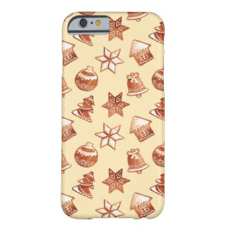 Watercolor Christmas ginger cookies Barely There iPhone 6 Case