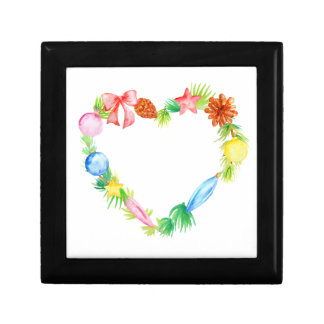 Watercolor Christmas Love Heart Trinket Boxes