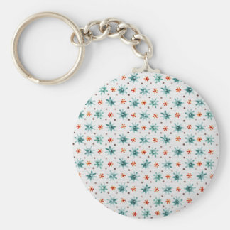 Watercolor Christmas snowflakes Keychain