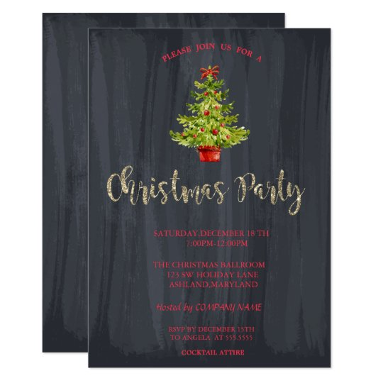 Watercolor Christmas Tree Company