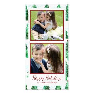 Watercolor Christmas Tree Pattern Card