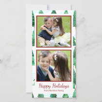 Watercolor Christmas Tree Pattern Holiday Card