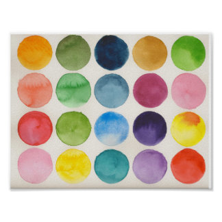 Watercolor circle chart poster
