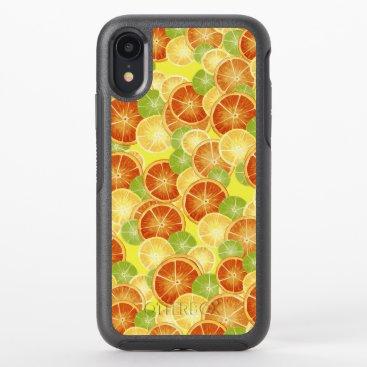 Watercolor Citrus Slices OtterBox Symmetry iPhone XR Case