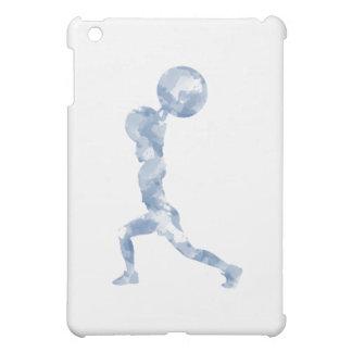 Watercolor Clean & Jerk in Blue iPad Mini Cover
