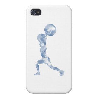 Watercolor Clean & Jerk in Blue iPhone 4/4S Cases
