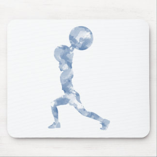 Watercolor Clean & Jerk in Blue Mouse Pad
