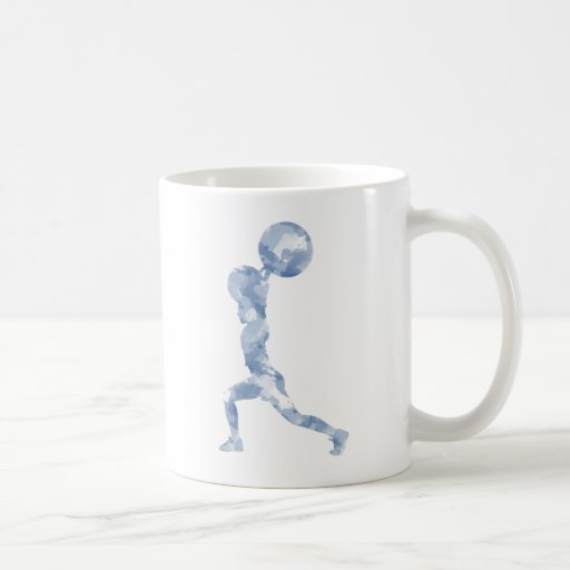 Watercolor Clean & Jerk in Blue Classic White Coffee Mug