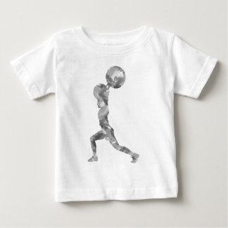 Watercolor Clean & Jerk in Grey Baby T-Shirt