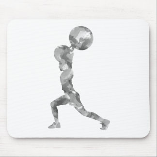 Watercolor Clean & Jerk in Grey Mouse Pad