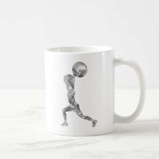 Watercolor Clean & Jerk in Grey Classic White Coffee Mug