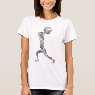 Watercolor Clean & Jerk in Grey T-Shirt