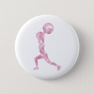 Watercolor Clean & Jerk in Pink Button