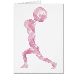 Watercolor Clean & Jerk in Pink Card