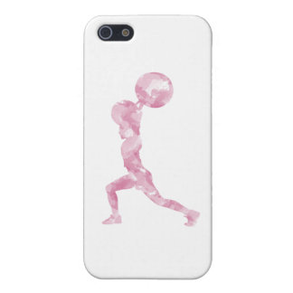 Watercolor Clean & Jerk in Pink Covers For iPhone 5