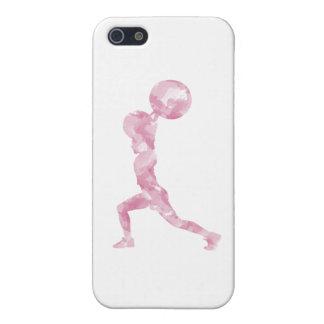 Watercolor Clean & Jerk in Pink iPhone 5/5S Covers