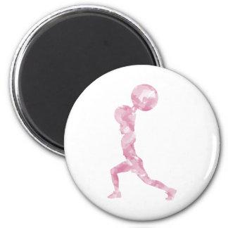 Watercolor Clean & Jerk in Pink Fridge Magnet