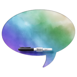 Watercolor Clouds in Rainbow Hues Dry-Erase Whiteboard