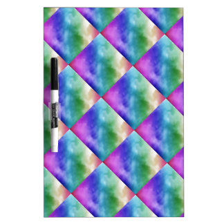Watercolor Clouds in Rainbow Hues Dry-Erase Board