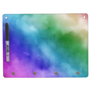 Watercolor Clouds in Rainbow Hues Dry Erase Whiteboard
