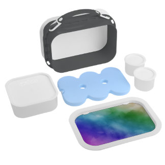 Watercolor Clouds in Rainbow Hues Lunchbox