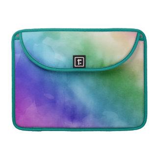 Watercolor Clouds in Rainbow Hues MacBook Pro Sleeve