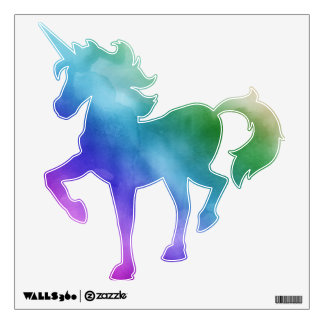Watercolor Clouds in Rainbow Hues Room Sticker