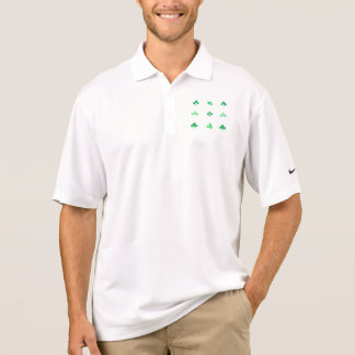 Watercolor clover leaves polo shirt