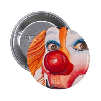 Watercolor Clown #10.png 2 Inch Round Button