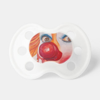 Watercolor Clown 10 png Baby Pacifiers