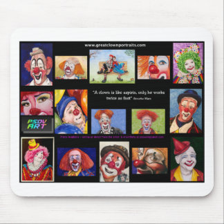 Watercolor Clowns - What Fun Mouse Pad