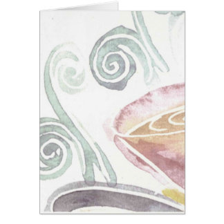 watercolor coffee card