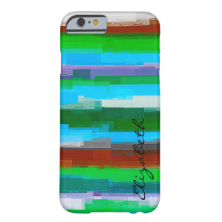 Watercolor Colored Abstract Monogram #11 Barely There iPhone 6 Case