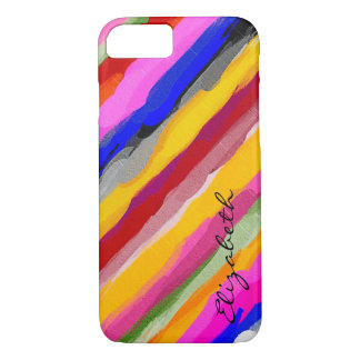 Watercolor Colored Abstract Monogram #11 iPhone 7 Case