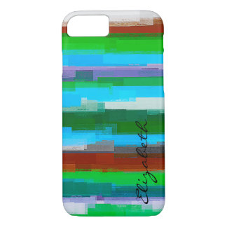 Watercolor Colored Abstract Monogram #11 iPhone 8/7 Case