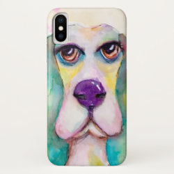 Case-Mate Barely There iPhone X Case with Basset Hound Phone Cases design