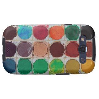 watercolor Colorful Paint Color box Galaxy S3 Case