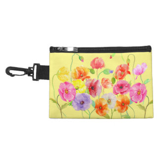 Watercolor Colorful Poppy Bag Accessory Bags