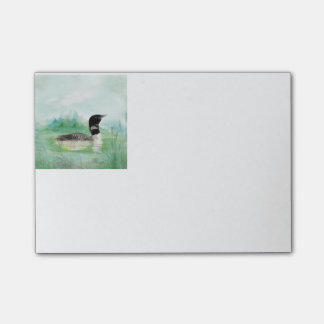 Watercolor Common Loon Bird Nature Art Post-it Notes