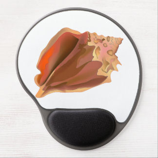 Watercolor Conch Seashell Gel Mouse Pad