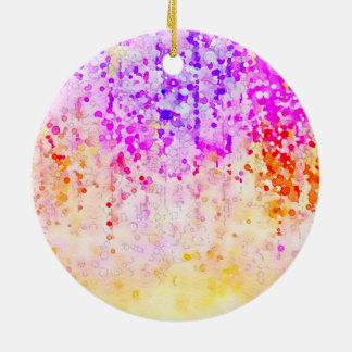 Watercolor Confetti Ceramic Ornament