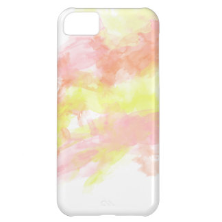 Watercolor Coral Pink Orange Iphone Case iPhone 5C Cover
