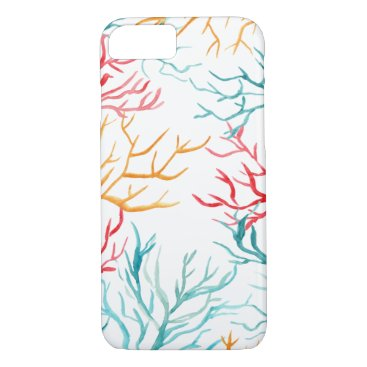 Beach Themed Watercolor Coral Reef Branches iPhone 7 Case