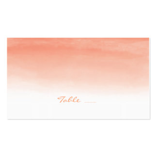 Watercolor Coral Wedding Escort Cards Double-Sided Standard Business Cards (Pack Of 100)