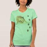 Watercolor Cougar Animal Tracks Wildlife Shirt