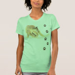 Watercolor Cougar Animal Tracks Wildlife Tanktop