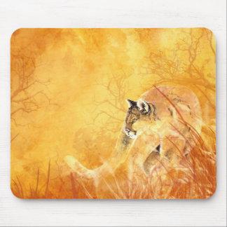 Watercolor Cougar Puma Mountain lion Animal Nature Mouse Pad