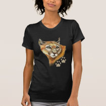 Watercolor Cougar  Puma, Mountain Lion, Animal T-Shirt