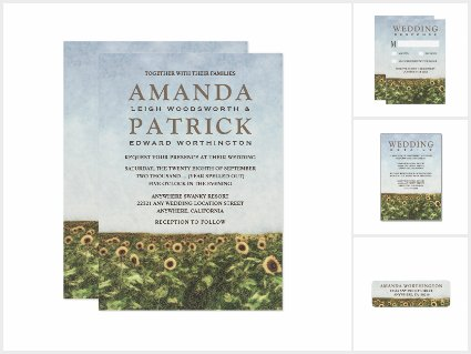 Watercolor Country Sunflower Wedding Collection